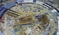 Vídeo do progresso da construção da nova sede da Apple