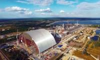 Gigantesca estrutura metálica em arco de Chernobyl