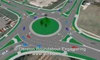 Simulação VISSIM de uma Rotunda nos EUA