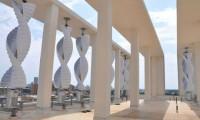 Instalação Eólica Espiral em Edifício