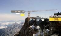 Grua montada a 2975 metros de altitude na Alemanha