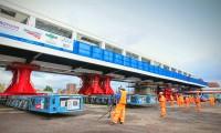 Transporte e Montagem de Passagem Pedonal Metálica