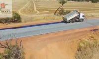 Construção ultra-rápida de estrada na Austrália