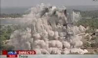 Implosão Torres Torralta em Tróia