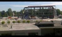 Demolição estrutura edifício